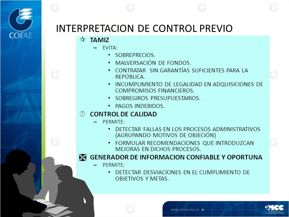 INTERPRETACION DE CONTROL PREVIO