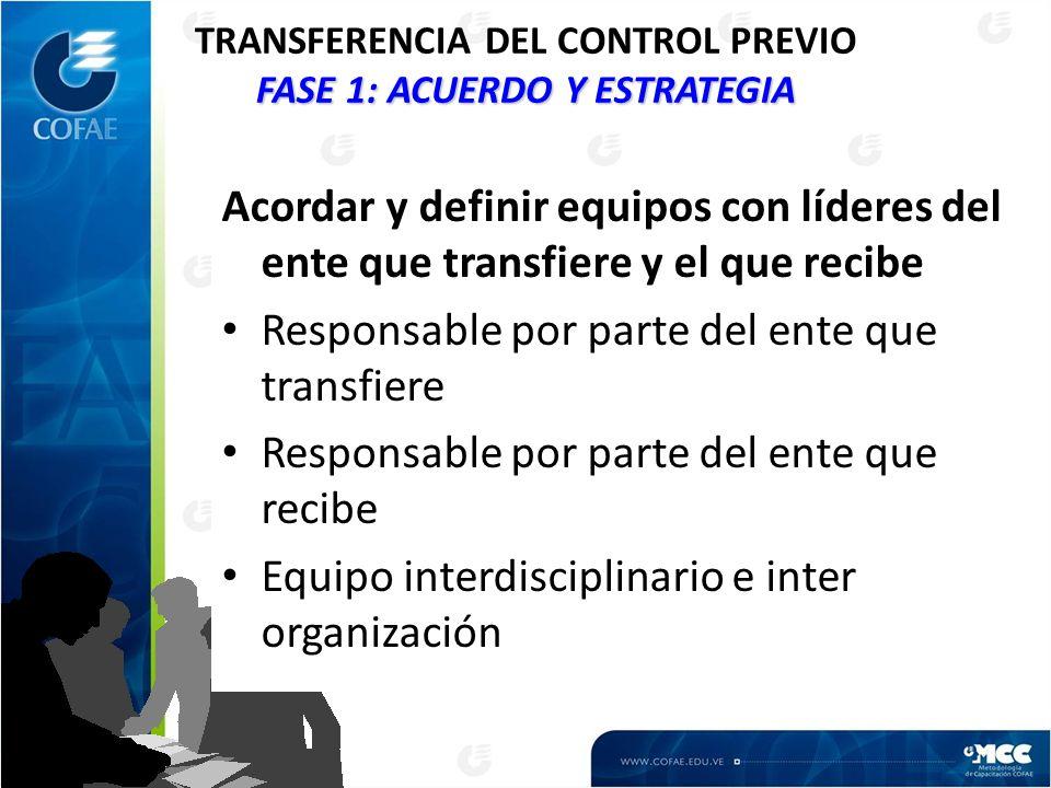 TRANSFERENCIA DEL CONTROL PREVIO FASE 1: ACUERDO Y ESTRATEGIA
