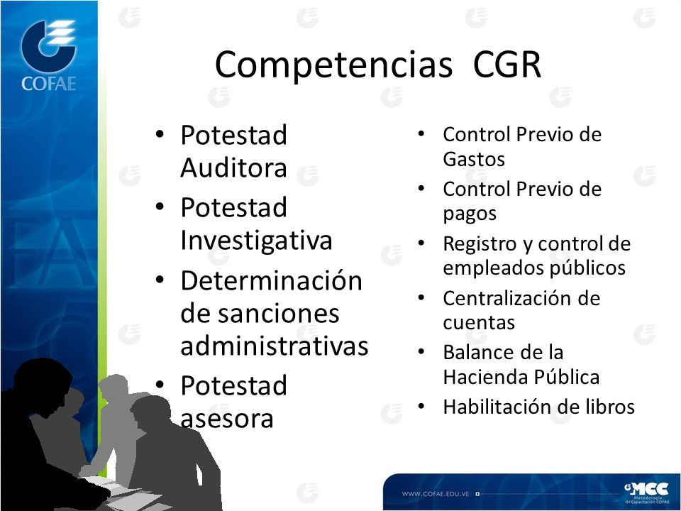 Competencias CGR Potestad Auditora Potestad Investigativa