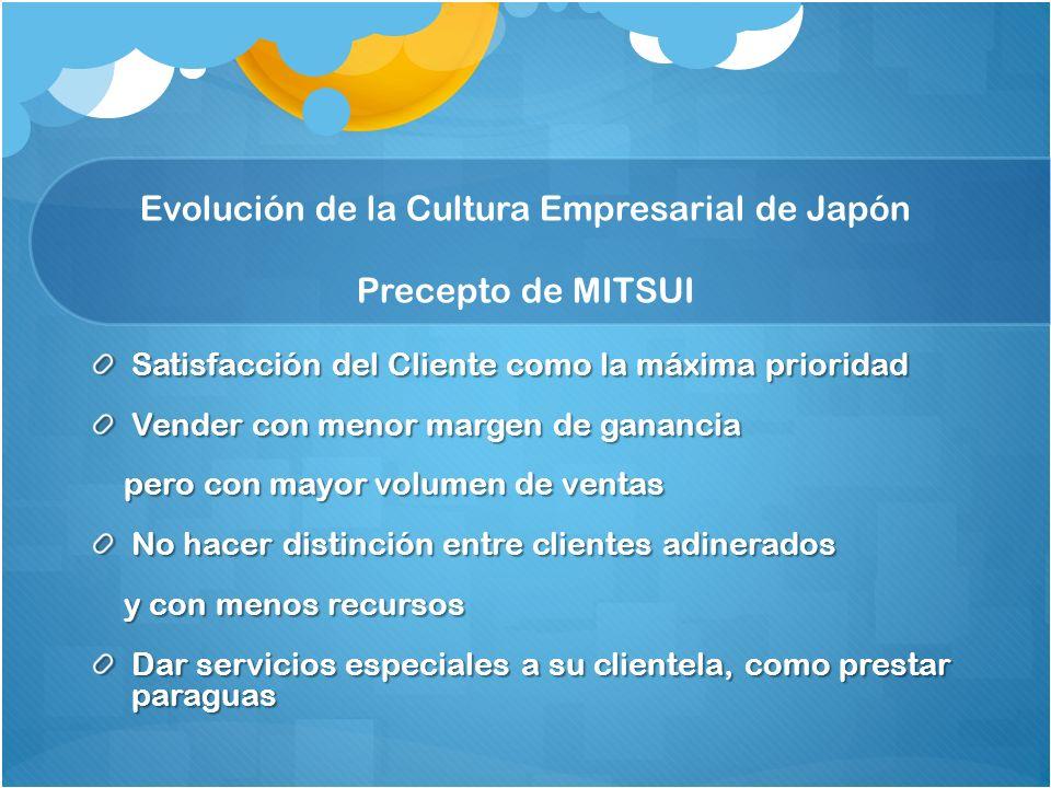 Evolución de la Cultura Empresarial de Japón Precepto de MITSUI