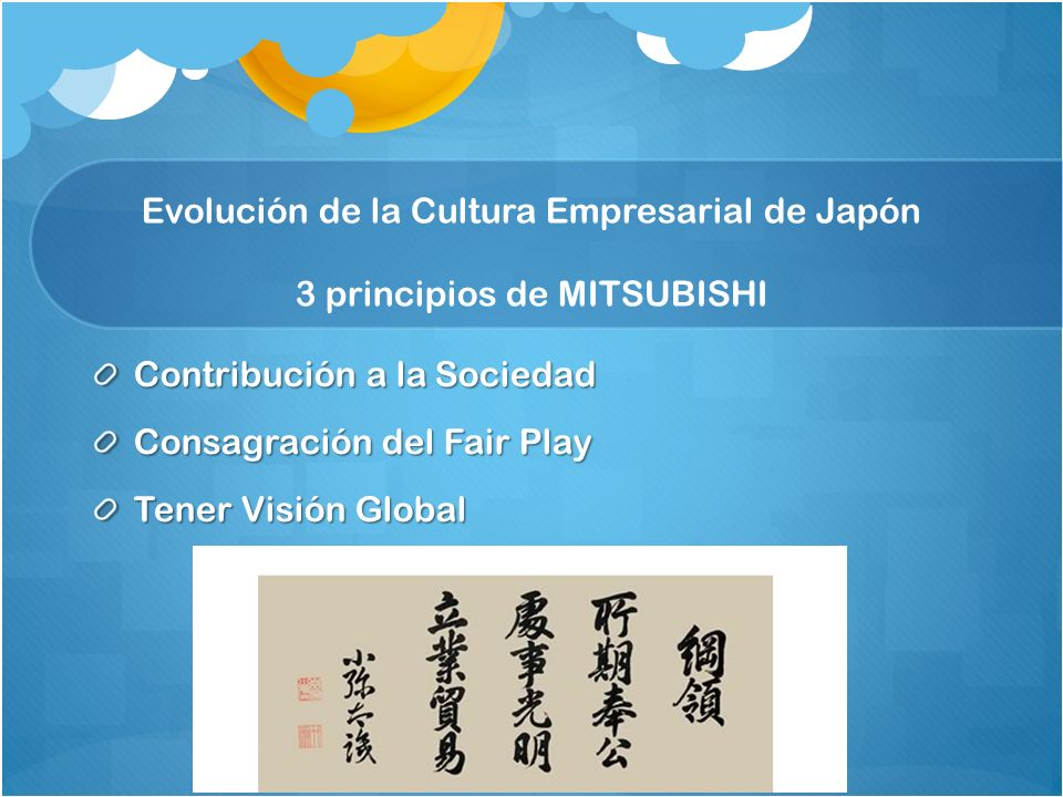 Evolución de la Cultura Empresarial de Japón 3 principios de MITSUBISHI