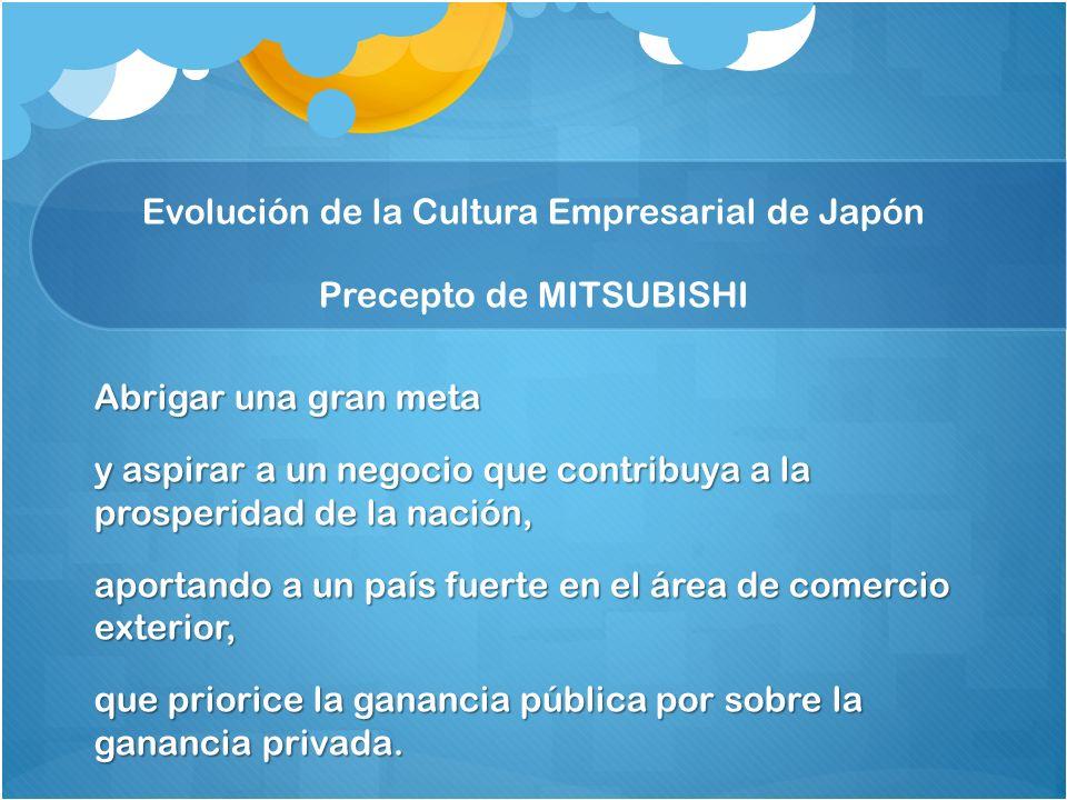 Evolución de la Cultura Empresarial de Japón Precepto de MITSUBISHI
