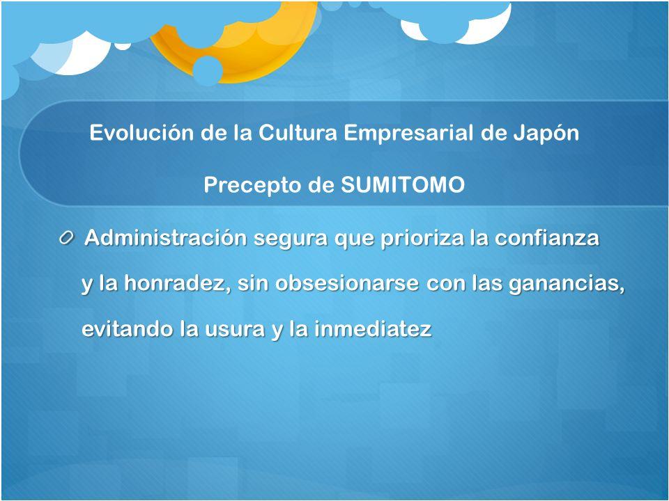 Evolución de la Cultura Empresarial de Japón Precepto de SUMITOMO