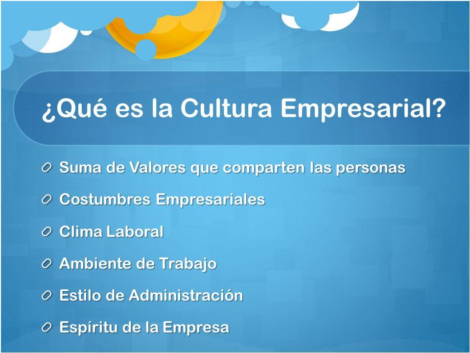 ¿Qué es la Cultura Empresarial