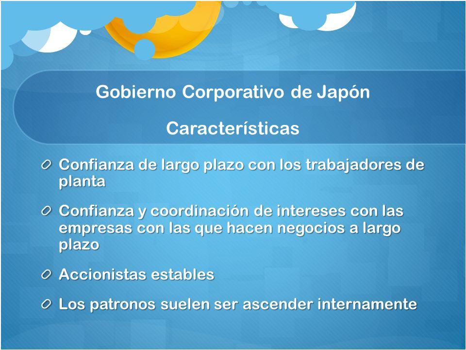 Gobierno Corporativo de Japón Características