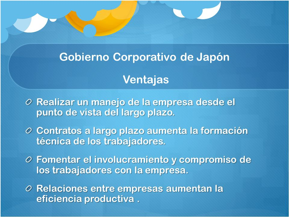 Gobierno Corporativo de Japón Ventajas
