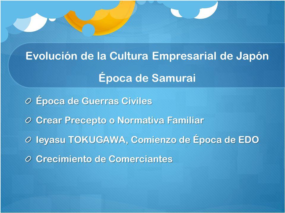Evolución de la Cultura Empresarial de Japón Época de Samurai