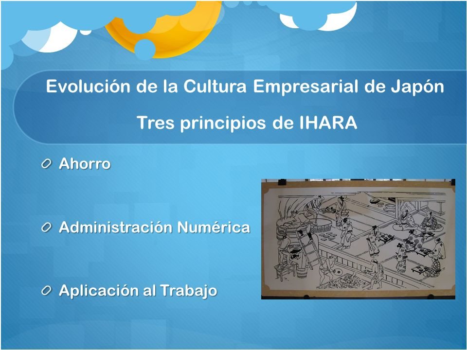 Evolución de la Cultura Empresarial de Japón Tres principios de IHARA
