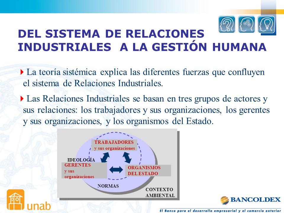 DEL SISTEMA DE RELACIONES INDUSTRIALES A LA GESTIÓN HUMANA