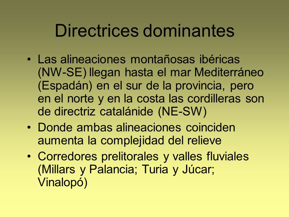 Directrices dominantes