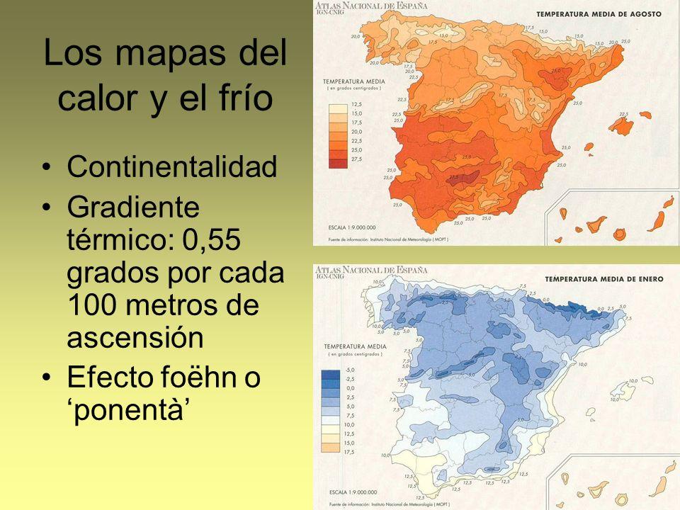 Los mapas del calor y el frío