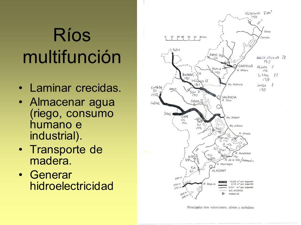 Ríos multifunción Laminar crecidas.