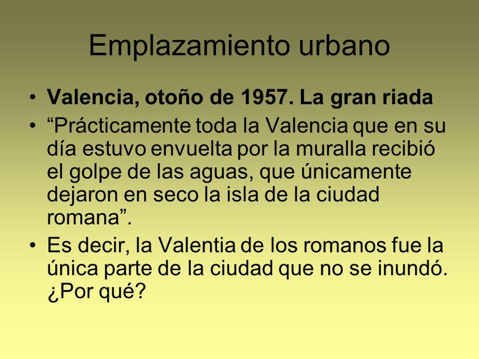 Emplazamiento urbano Valencia, otoño de 1957. La gran riada