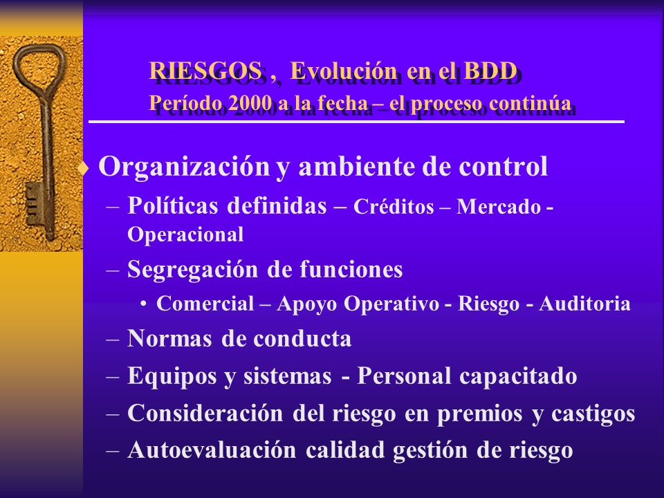 Organización y ambiente de control