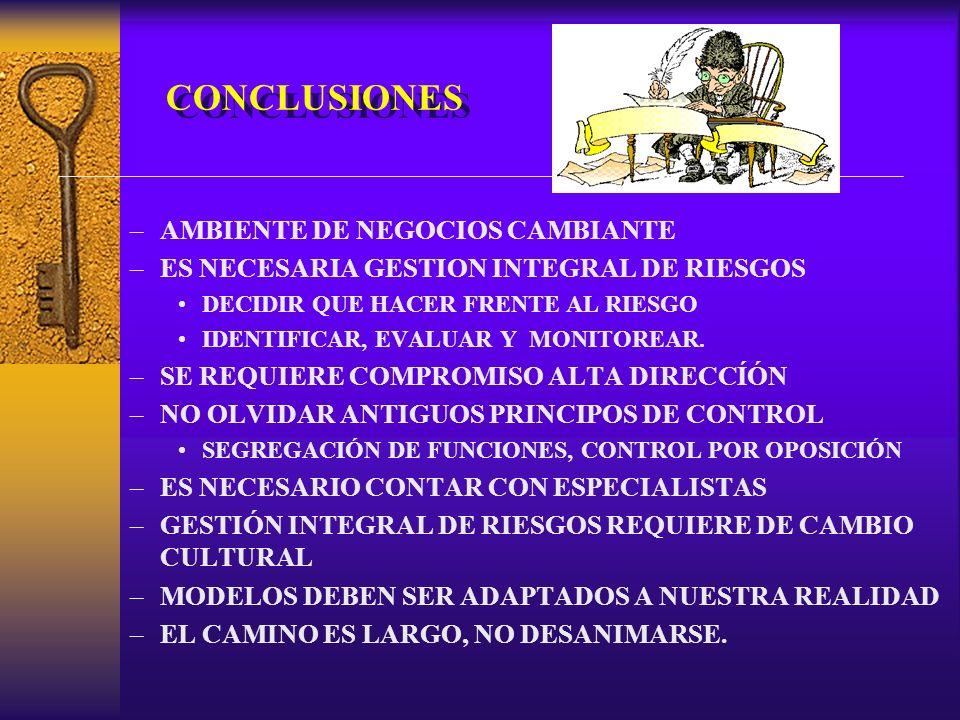 CONCLUSIONES AMBIENTE DE NEGOCIOS CAMBIANTE