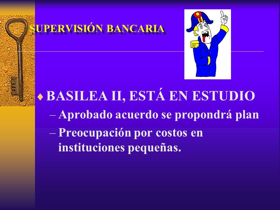 BASILEA II, ESTÁ EN ESTUDIO