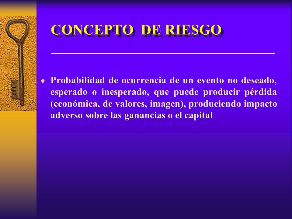 CONCEPTO DE RIESGO