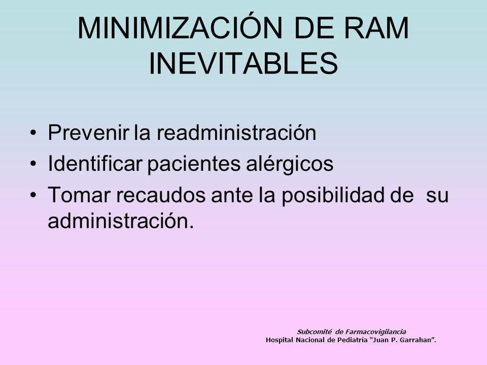 MINIMIZACIÓN DE RAM INEVITABLES