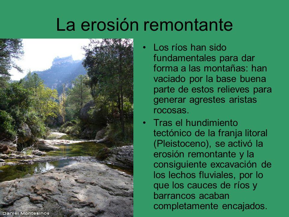 La erosión remontante
