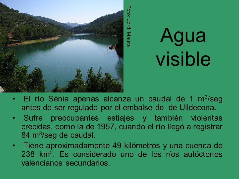 Foto: Jordi Maura Agua visible. El río Sénia apenas alcanza un caudal de 1 m3/seg antes de ser regulado por el embalse de de Ulldecona.