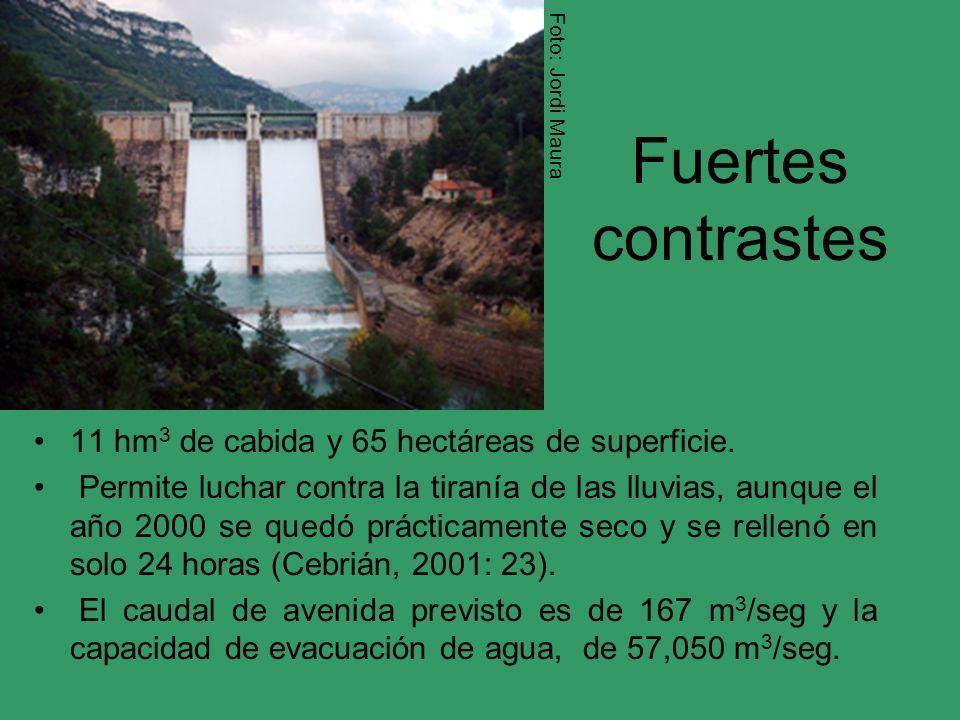 Fuertes contrastes 11 hm3 de cabida y 65 hectáreas de superficie.