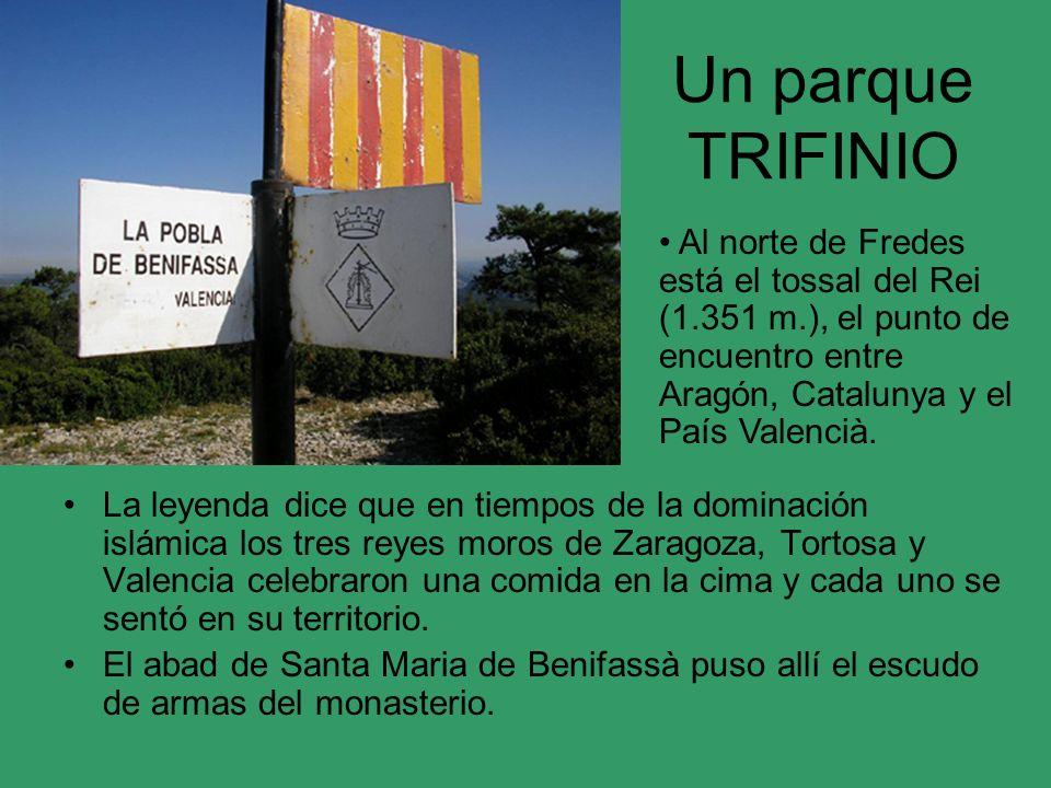 Un parque TRIFINIO Al norte de Fredes está el tossal del Rei (1.351 m.), el punto de encuentro entre Aragón, Catalunya y el País Valencià.