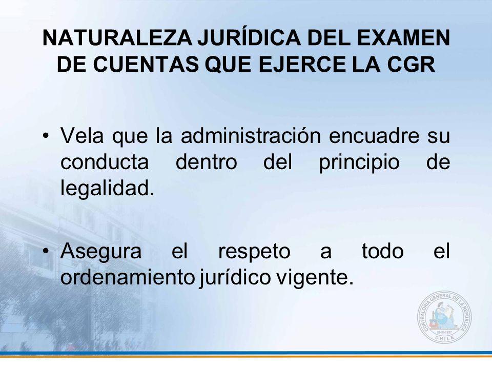 NATURALEZA JURÍDICA DEL EXAMEN DE CUENTAS QUE EJERCE LA CGR