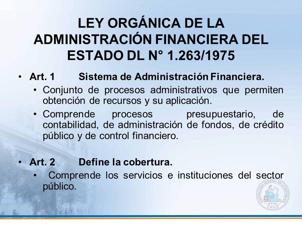 LEY ORGÁNICA DE LA ADMINISTRACIÓN FINANCIERA DEL ESTADO DL N° 1