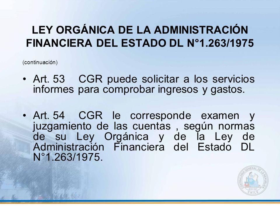 LEY ORGÁNICA DE LA ADMINISTRACIÓN FINANCIERA DEL ESTADO DL N°1