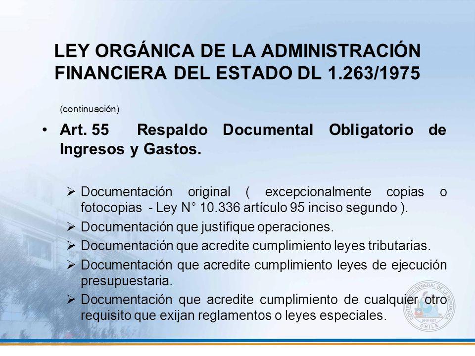 LEY ORGÁNICA DE LA ADMINISTRACIÓN FINANCIERA DEL ESTADO DL 1.263/1975