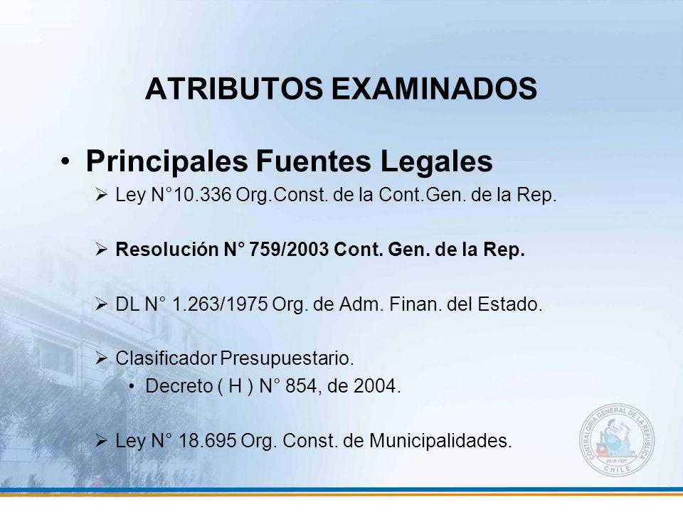 Principales Fuentes Legales