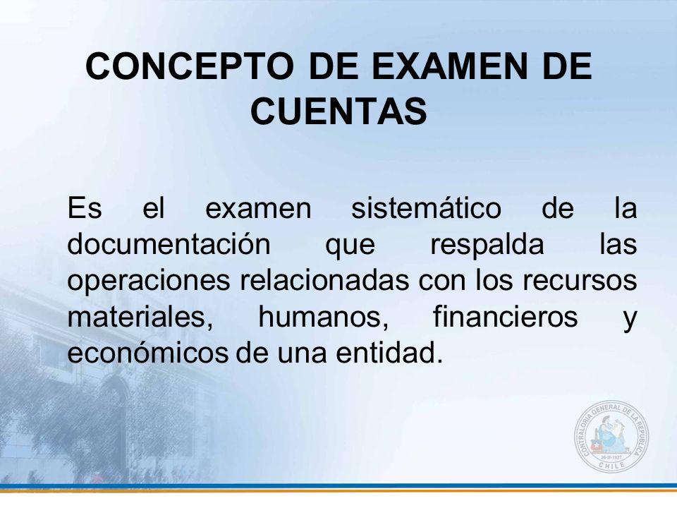 CONCEPTO DE EXAMEN DE CUENTAS