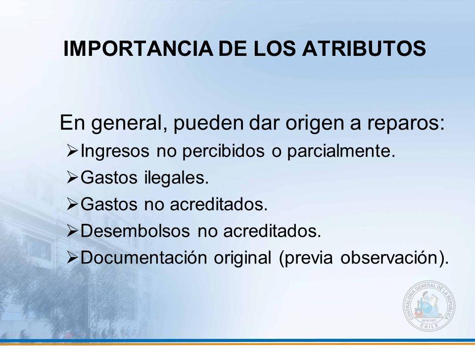 IMPORTANCIA DE LOS ATRIBUTOS