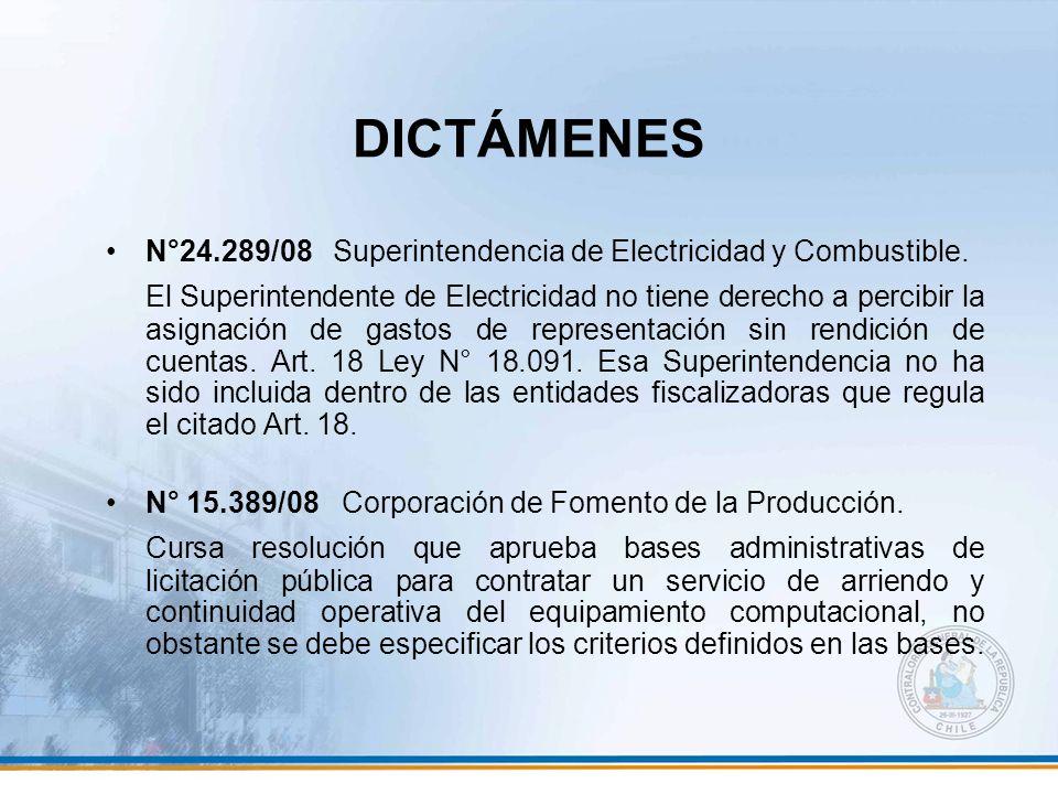 DICTÁMENES N°24.289/08 Superintendencia de Electricidad y Combustible.