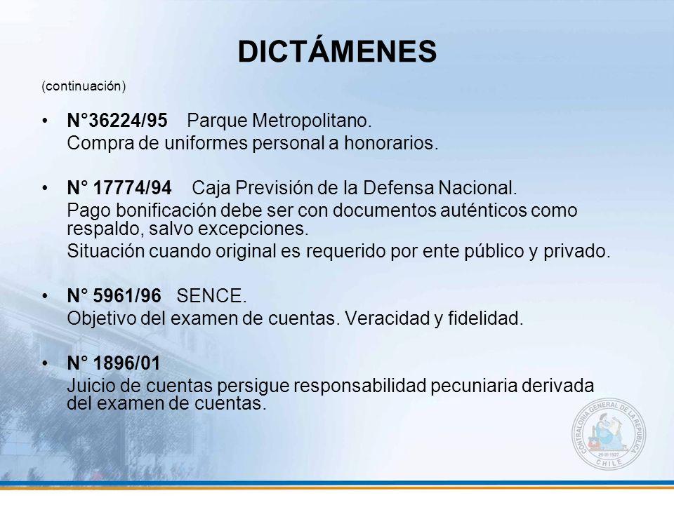 DICTÁMENES N°36224/95 Parque Metropolitano.