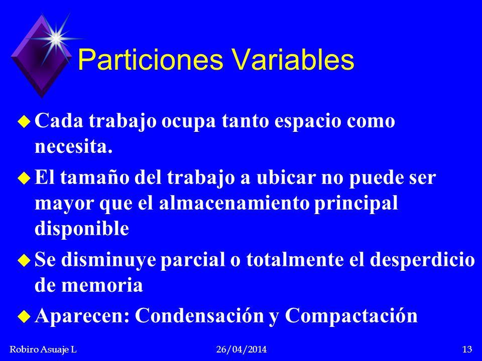 Particiones Variables