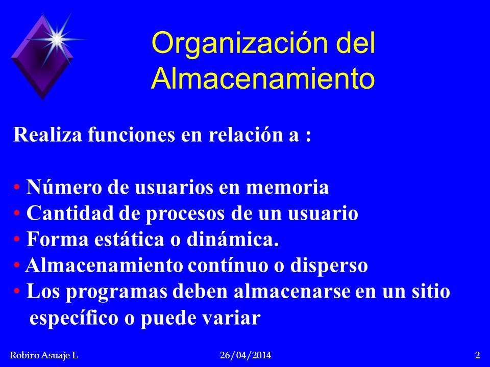Organización del Almacenamiento