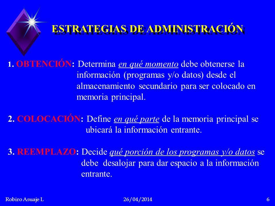 ESTRATEGIAS DE ADMINISTRACIÓN