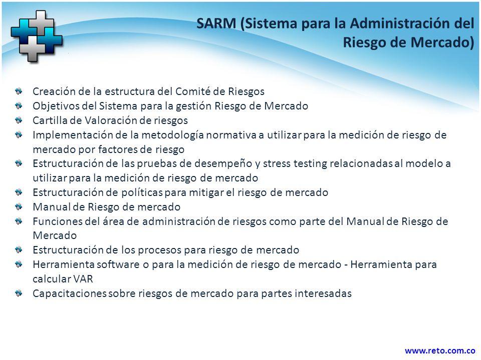 SARM (Sistema para la Administración del Riesgo de Mercado)
