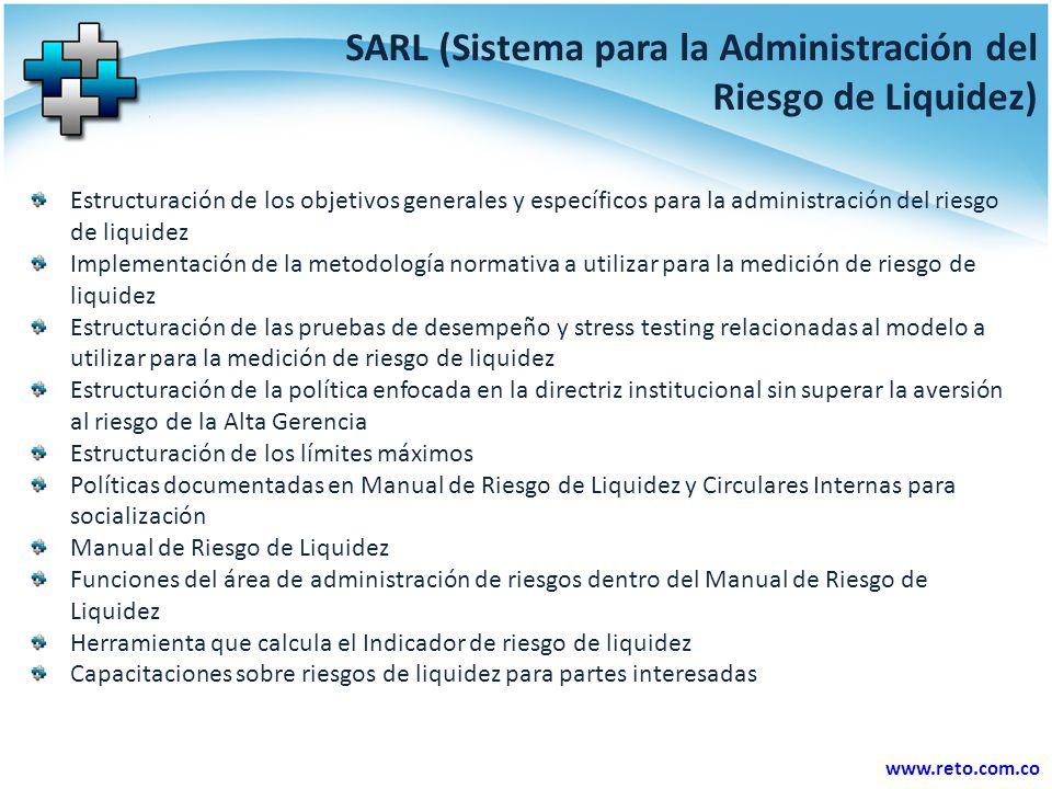 SARL (Sistema para la Administración del Riesgo de Liquidez)