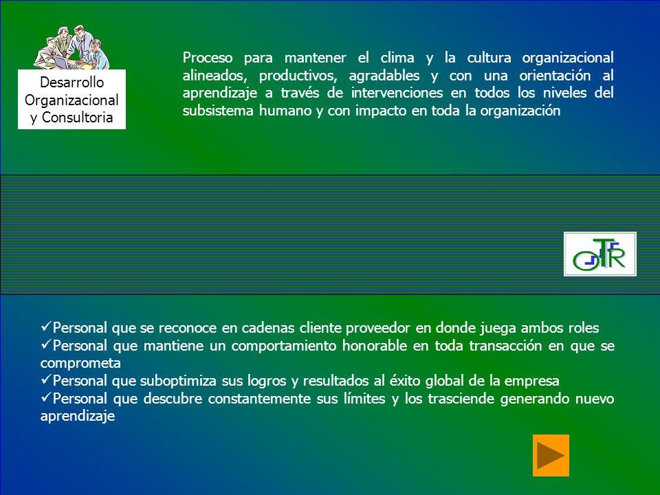 Desarrollo Organizacional. y Consultoria.