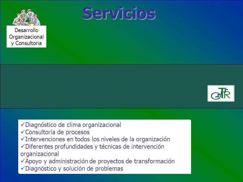 Servicios Diagnóstico de clima organizacional Consultoría de procesos