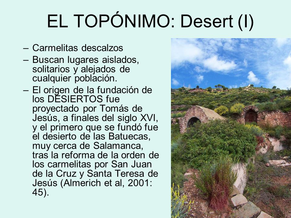 EL TOPÓNIMO: Desert (I)