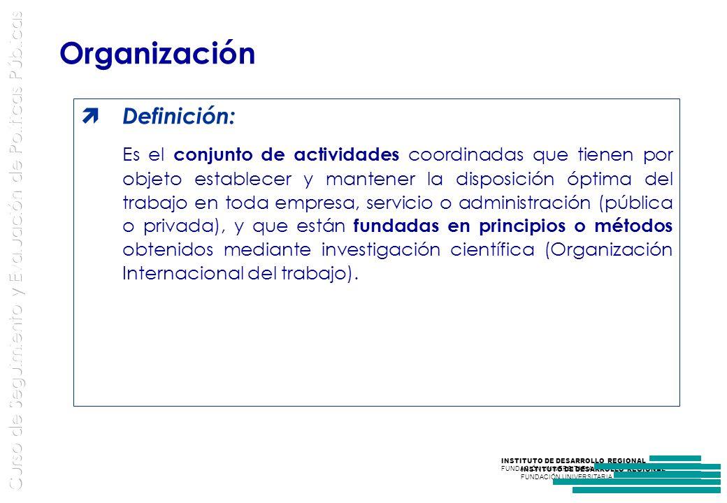 Organización Definición: