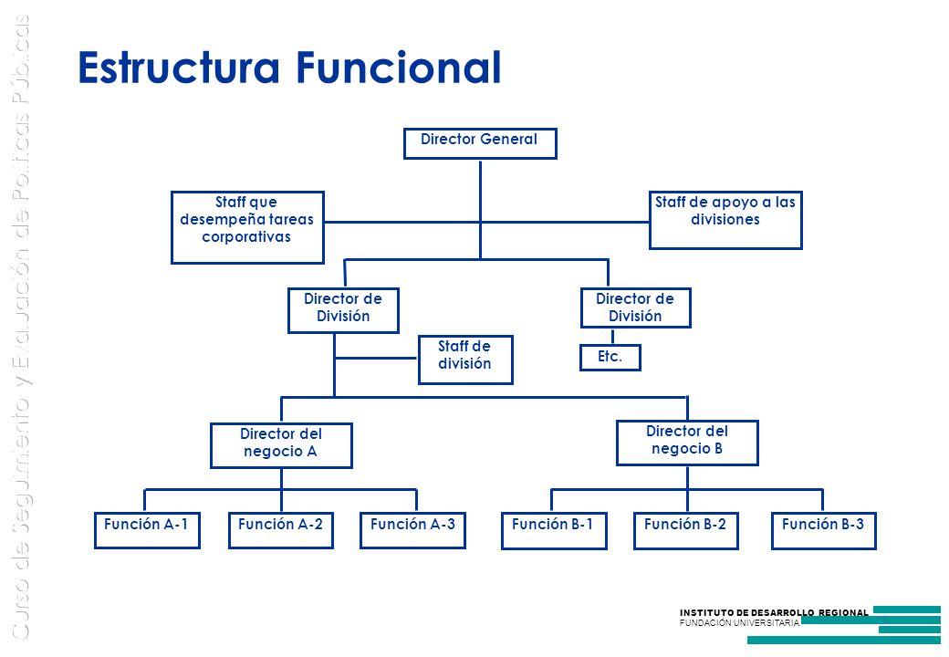 Estructura Funcional Director General