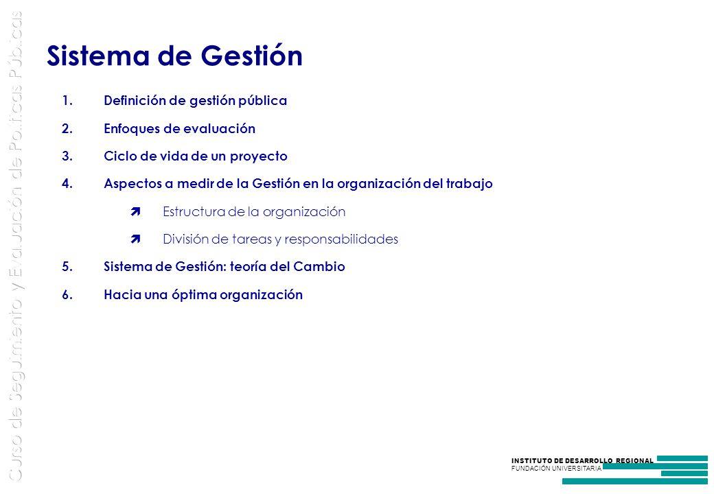 Sistema de Gestión Definición de gestión pública