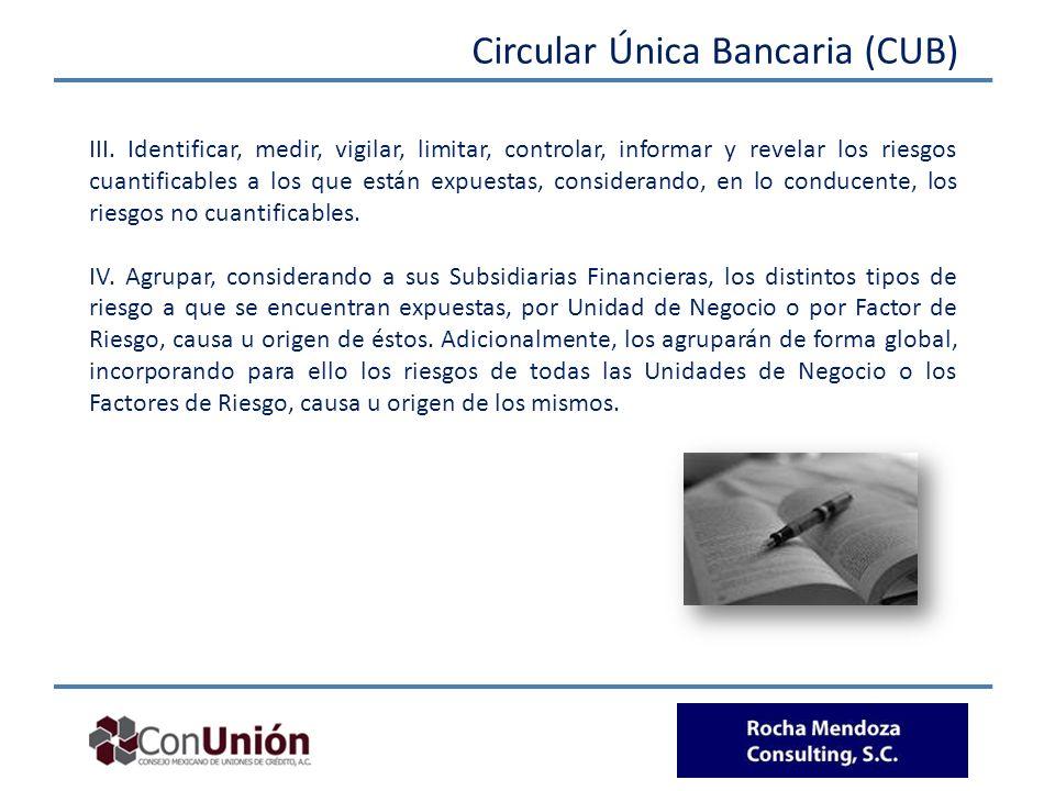 Circular Única Bancaria (CUB)