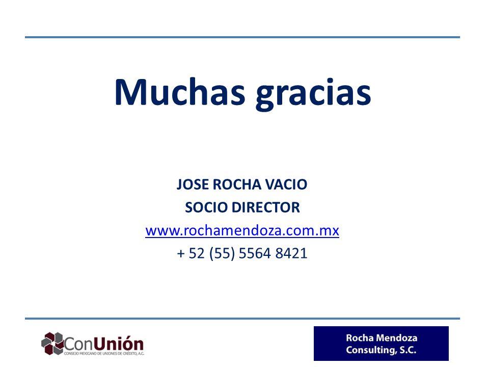 Muchas gracias JOSE ROCHA VACIO SOCIO DIRECTOR www.rochamendoza.com.mx