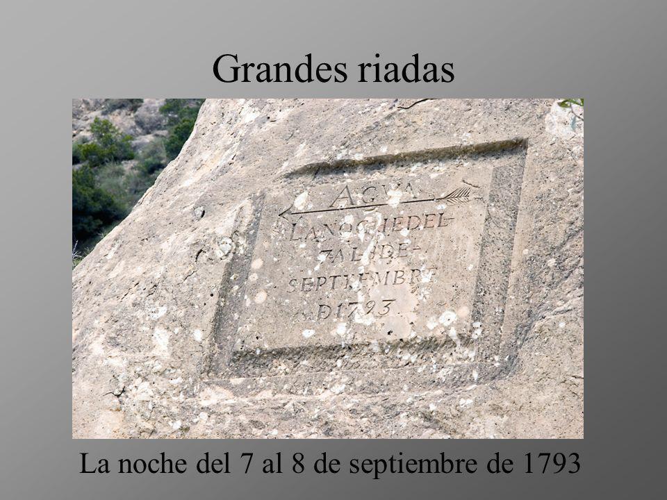 Grandes riadas La noche del 7 al 8 de septiembre de 1793