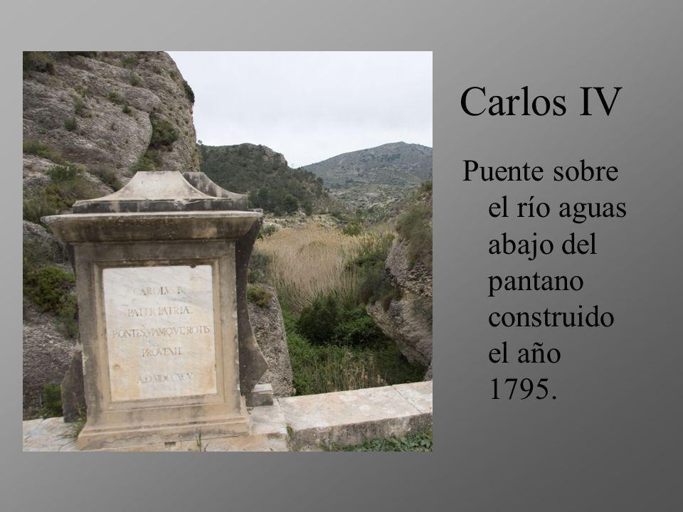 Carlos IV Puente sobre el río aguas abajo del pantano construido el año 1795.